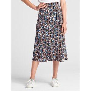 Gap floral print midi skirt